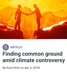 Yale Climate Connections Common Ground on Climate Change series of articles